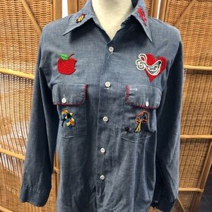 AMAZING HAND EMBROIDERED VINTAGE JCP sz medium